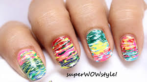 Spun Sugar - No tools! Easy Nail Art Without tools - Beginners ...