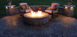 fall cleaning tips stamped concrete patio