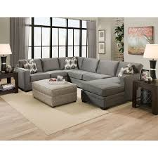 Living Room With Sectional Sofa Living Room L Shaped Leather Sectional Sofa In Espresso With