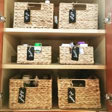 baskets and labels