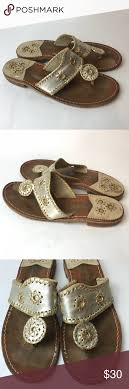 Jack Rogers Silver Gold Sandals Womens Jack Rogers Silver