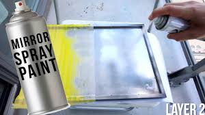 testing out a mirror in a can mirror spray paint