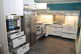 Awesome Nobilia   Cottage Nautic Pine L   Küche Mit Side By Side Kühlschrank In  Moderner Holzoptik