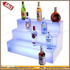 Bar Bottle Display Stand Inspiration Frost Lit Step Bottle Display Stand Led Bar Shelf Buy Step Bottle