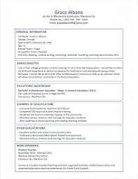 Sample Resume Format Objective In Resume For Fresh Graduate