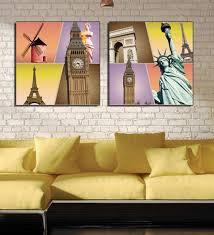 framed multiple canvas paintings multiple frames of mordern art contemporary frames of flowers leaves and birds