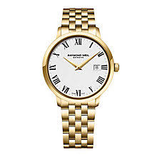 raymond weil watches ernest jones raymond weil geneve men s gold plated strap watch product number 2175134