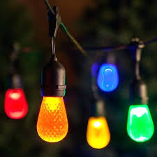 led outdoor string lights 100 solar powered home depot