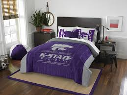 represent your team and sleep soundly with the soft and comfortable kansas state wildcats modern take full queen comforter set designed with official team