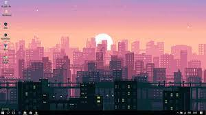 1366x768 Aesthetic City Wallpaper ...