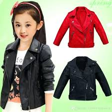 leather jackets for kids children jacket boys autumn girls coat spring solid casual upper clothes lightweight leather jackets for kids