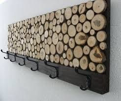 maple wood slice coat rack is great for any entryway on birch wood slice wall art with 34 wood slice home d cor ideas shelterness