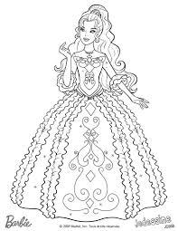 Coloriage De Barbie Filename Coloring Page Free Printable Orango