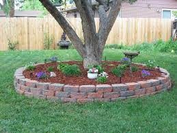 landscaping bricks around trees
