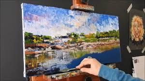 palette knife landscape oil painting by nathalie jaguin