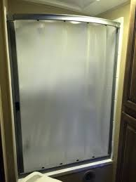 curved rv shower door the result is stunning it completely changed the feel of the bathroom curved rv shower