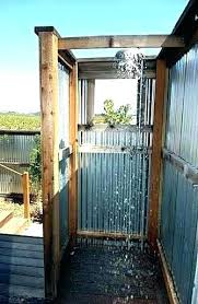 shower outdoor shower stall how for rv