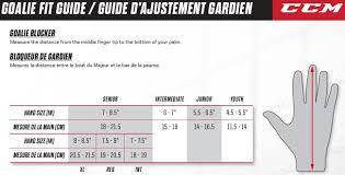 Ccm Youth Hockey Gloves Size Chart Ccm Premier P2 5 Senior Goalie Blocker