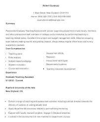 Teaching Assistant Resume Example Nfcnbarroom Com