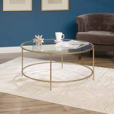 international lux round coffee table 417830 sauder with glass round coffee table