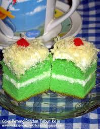 Just My Ordinary Kitchen Cake Pandan Tabur Keju Pandan Wangi
