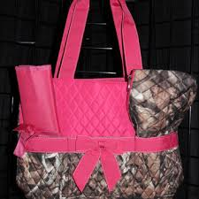 Shop Camo Diaper Bag on Wanelo & Machine Embroidered Quilted Diaper Bag- Camo, Pink Trim.. Includes FREE  personal embroidery Adamdwight.com