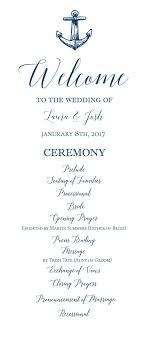 Ceremony Template Nautical Wedding Program Ceremony Printable Template Navy Blue Anchor Program Editable Template Printable Diy Templett