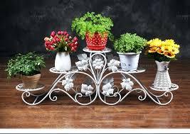 big flower pots big size 5 pots balcony and indoor flower pot holder garden flower stand iron large flower pots for uk