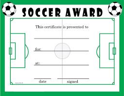 Soccer Certificate Templates For Word Soccer Award Templates Under Fontanacountryinn Com