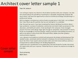 Junior Architect Cover Letter Sample   LiveCareer