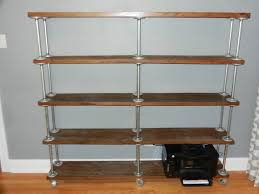 Industrial Bookcase Diy Galvanized Pipe Bookcase Google Search Condo Pinterest