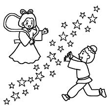 織姫と彦星3白黒七夕たなばたの無料イラスト夏の季節行事素材