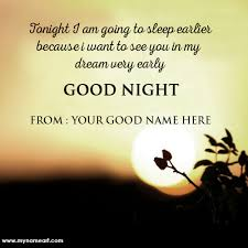 Good Night Quotes For Her Enchanting Love Quotes For Her Good Night Wishes With My Name Write Wishes