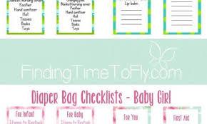 Baby Supplies Checklist Checklist