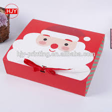 Santa Claus Gift Box Biscuit Ribbon Folding Carton Candy Packing Box Printing Buy Santa Claus Gift Box Foldable Paper Box Folding Paper Box Product
