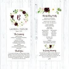 Silhouette Wedding Program Ideas Ceremony Wording Creative