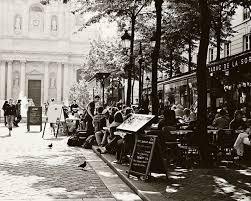 French Bistro Decor Paris Cafe Print Tabac De La Sorbonne Black And White Paris