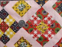 27 best book images on Pinterest | Embroidery, Patterns and ... & vintage patchwork quilt cheater print cotton quilting print fabric, 1950s Adamdwight.com