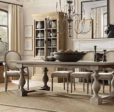 monastery table from restoration hardware which has such nice grey tone decor