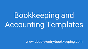 Accounting Templates Double Entry Bookkeeping