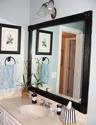 easy diy bathroom mirror frame Bathroom Decor Ideas Bathroom