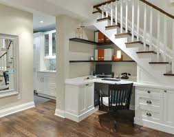 houzz office desk. Houzz Home Office Basement Desk Under The Stairs Traditional Ideas L