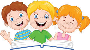 vector ilration of cartoon kids reading book stock vector colourbox