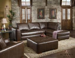 Leather Sectional Living Room Stylish Brown Leather Sectional Sofa At Mellunasaw Modern Home