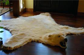 polar bear skin rug for in front of a fire rugs with head