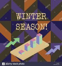 Handwriting Text Writing Winter Season Conceptual Photo The