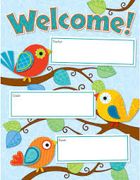 Welcome Chart Images Boho Birds Welcome Chart Cd 114190