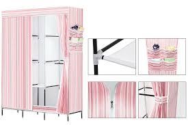 diy portable assemble easy wardrobe closet storage organizer shoe rack pink nex 1