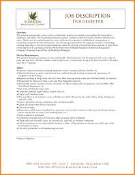 Chic Housekeeping Resume Objective Sample For Your Career