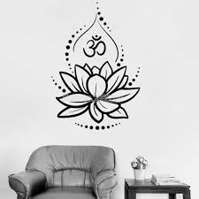 Detail Feedback Questions About Creative Lotus Vinyl Wall Decals Om